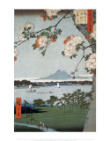Suigin Grove and Masaki by Hiroshige